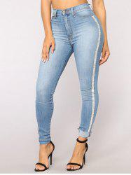 Women Casual Trendy Pencil Stretch Skinny Jeans -