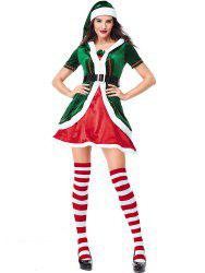 Women's Christmas Party Costumes Dress Cosplay Elf Clothes Sets -