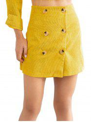 Double Breast A-line Skirt -
