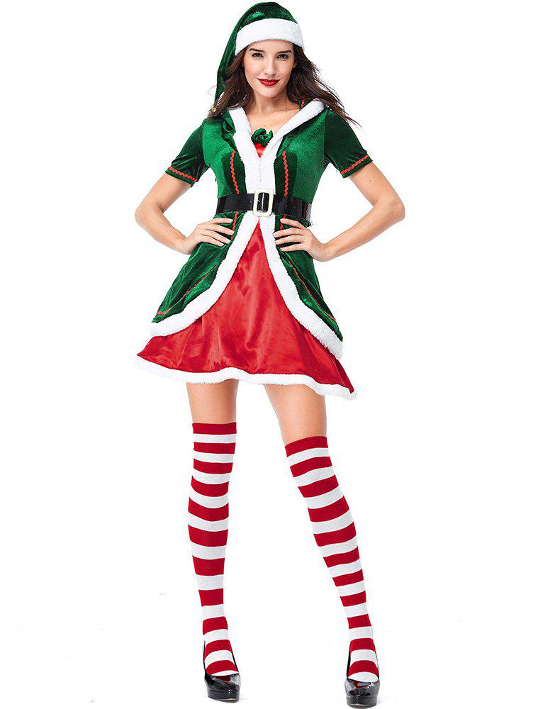 Outfit Women's Christmas Party Costumes Dress Cosplay Elf Clothes Sets