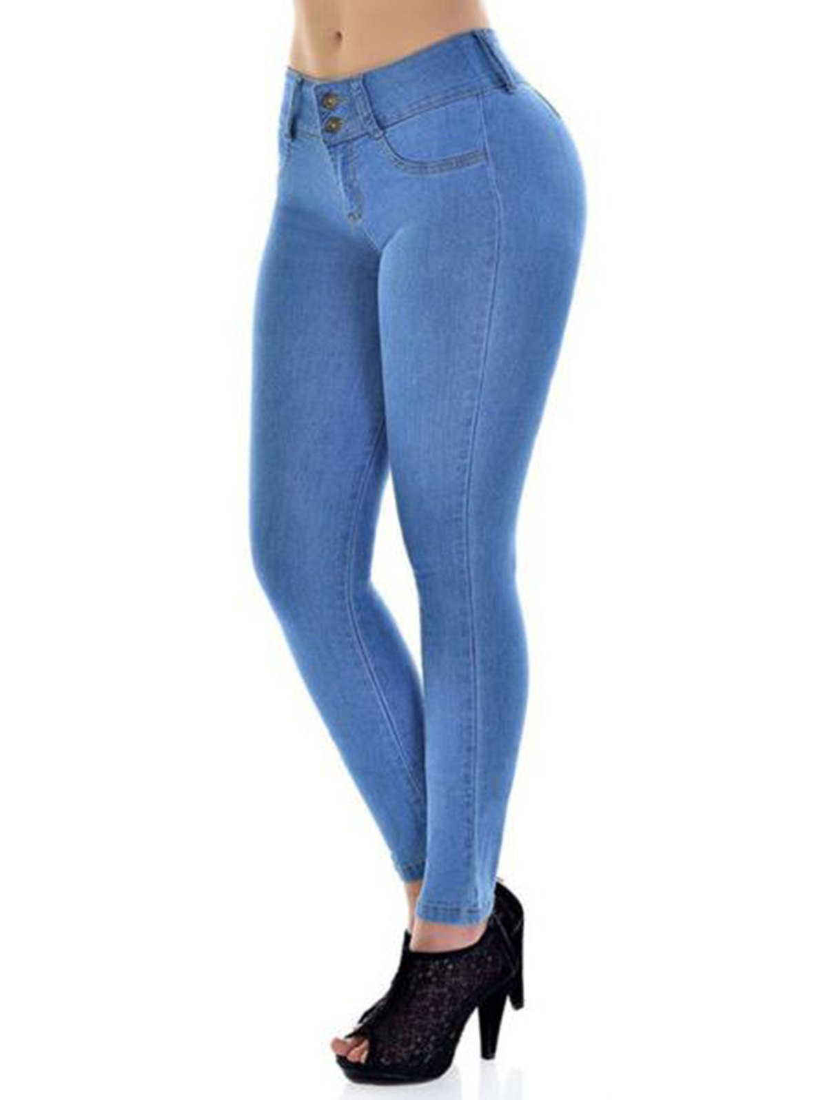 Outfits Womens Casual Jeans Skinny Trendy Stretch Pencil Denim Pants