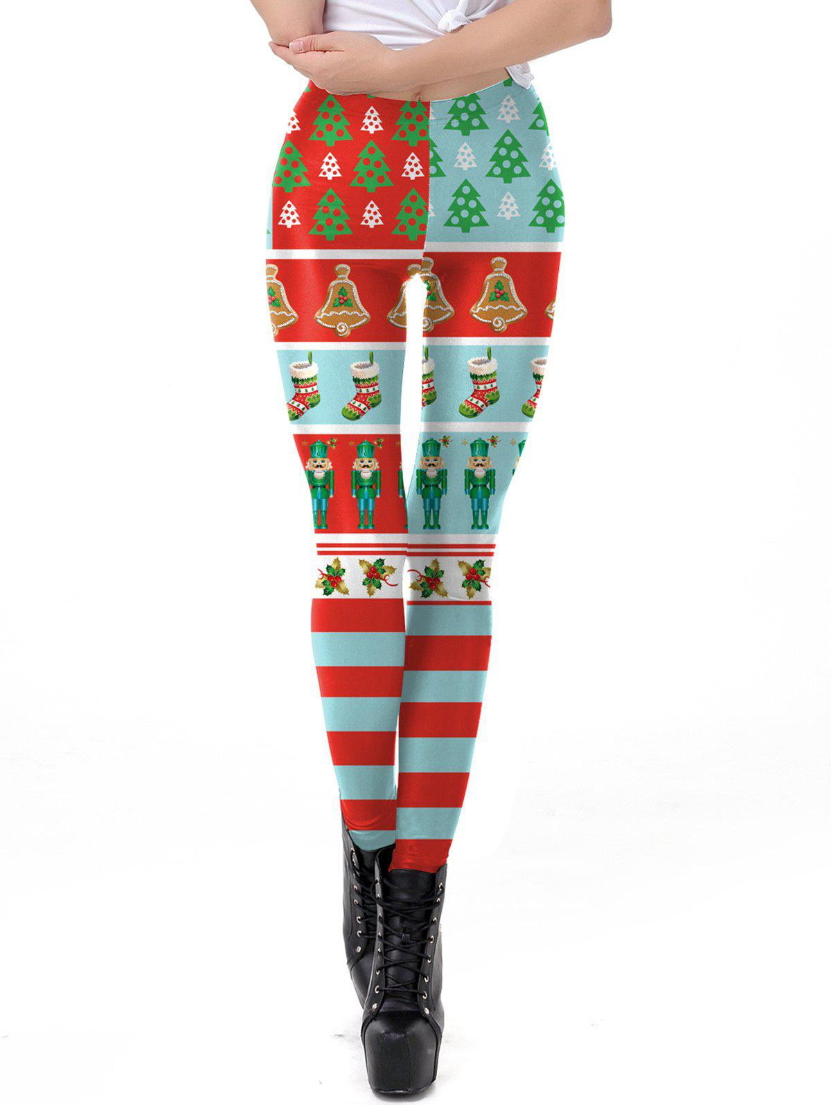 Unique Womens Christmas Leggings Super Soft 3D Design Printing Pants