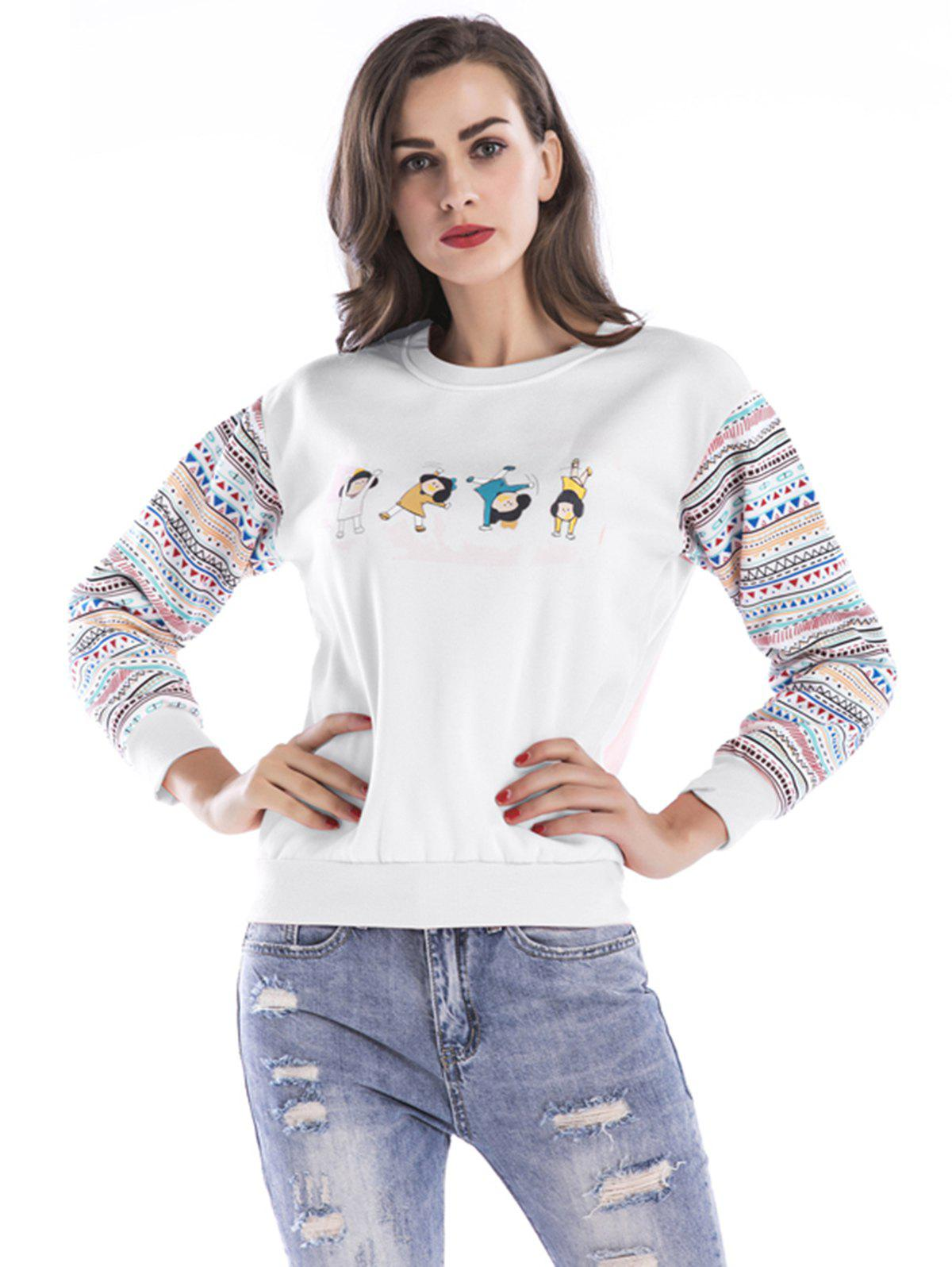 Chic Women Fashion Floral Splice Long Sleeve Blouse Top Pullover Casual Christmas T Shirt