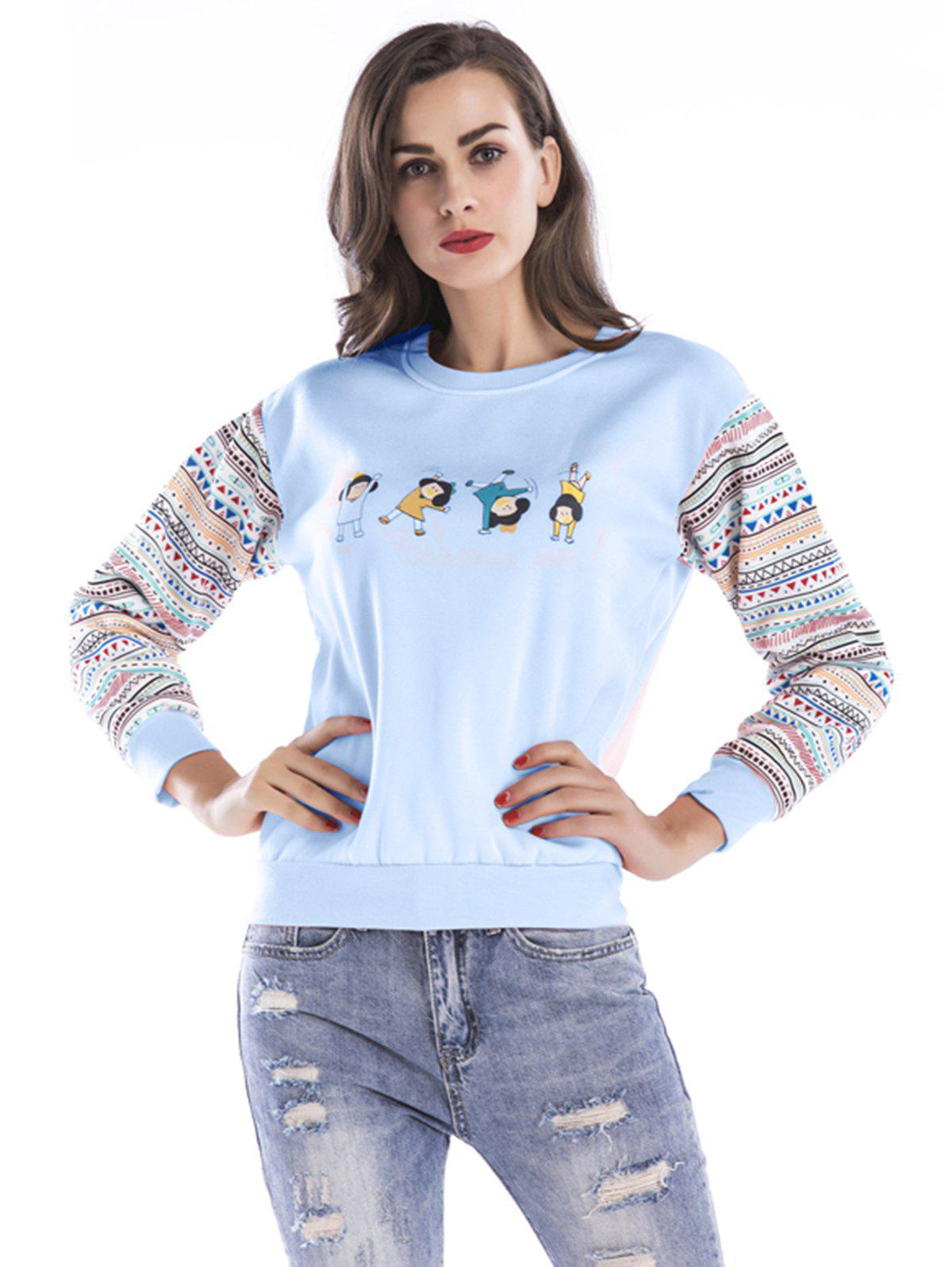 Discount Women Fashion Floral Splice Long Sleeve Blouse Top Pullover Casual Christmas T Shirt