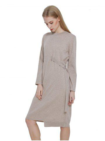 Loose Wool Blended Dress