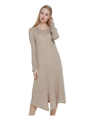Casual Wool Blended Dress
