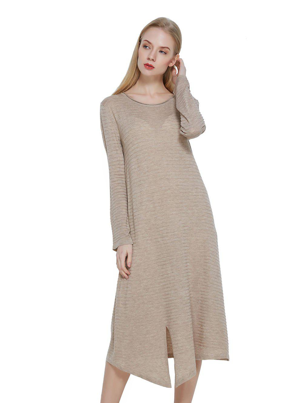 Cheap Casual Wool Blended Dress