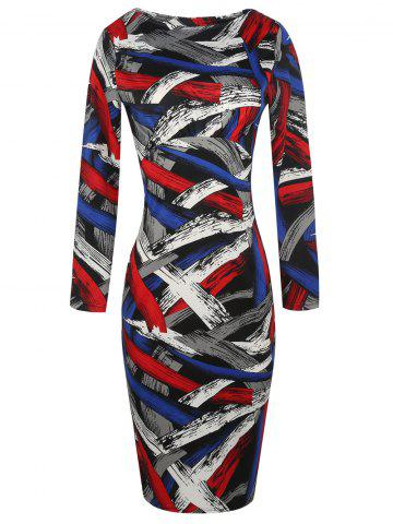 94188ec1a8 Multicolor Bodycon Dress - Free Shipping, Discount And Cheap Sale ...