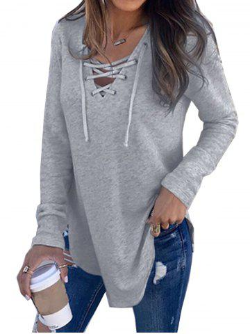 e97a0acea56d Womens V Neck Long Sleeve Loose Casual Knit Sweaters Pullover Tops