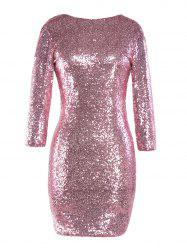 Sequinned Backless Slim One-step Dress -