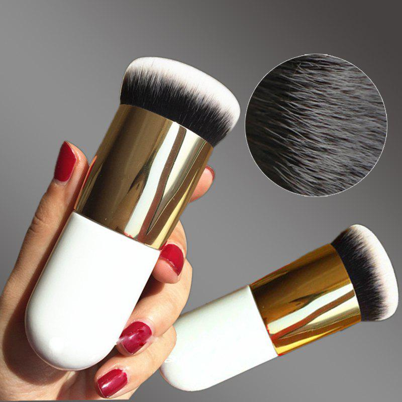 Outfit Chubby Foundation Brush White and Brown Makeup Brush Fast Make up Brushes Beauty Essential Makeup Tools