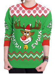Christmas Ugly Sweater Humping Reindeer Funny Sweatshirt -