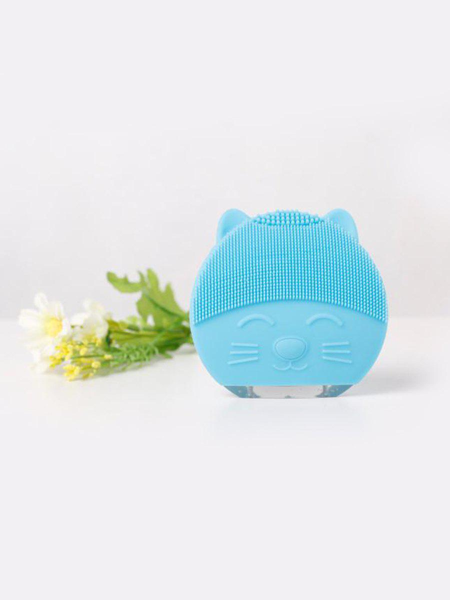 Trendy Cute Cartoon Mini Electric Facial Cleaning Brush Ultrasonic Vibration Face Skin Care Massager Silicone Face