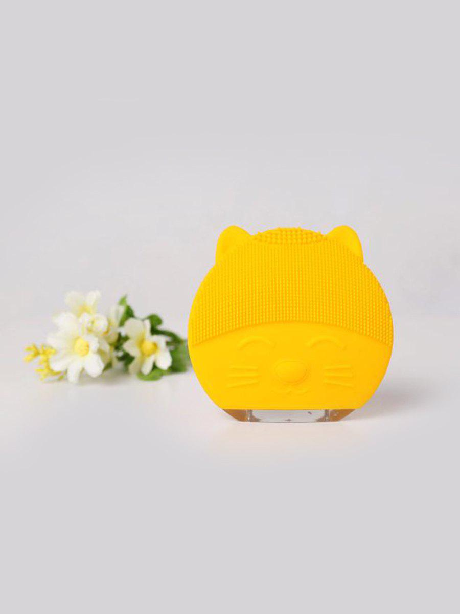 Hot Cute Cartoon Mini Electric Facial Cleaning Brush Ultrasonic Vibration Face Skin Care Massager Silicone Face