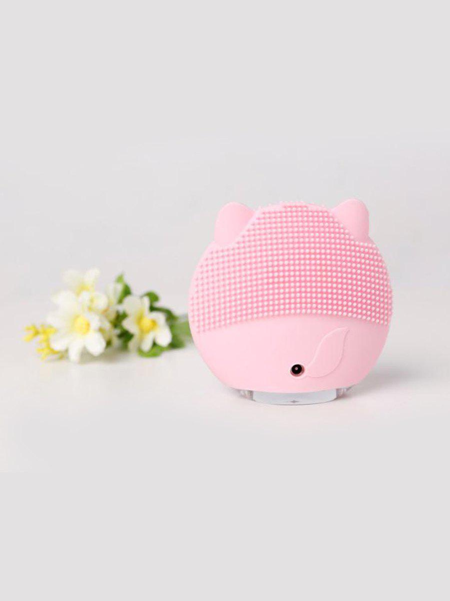 Latest Cute Cartoon Mini Electric Facial Cleaning Brush Ultrasonic Vibration Face Skin Care Massager Silicone Face Cleansing Wash Brush