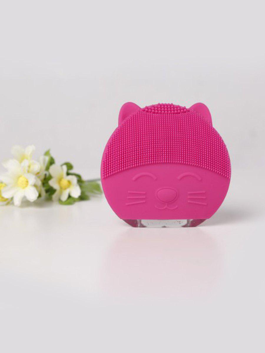 Unique Cute Cartoon Mini Electric Facial Cleaning Brush Ultrasonic Vibration Face Skin Care Massager Silicone Face