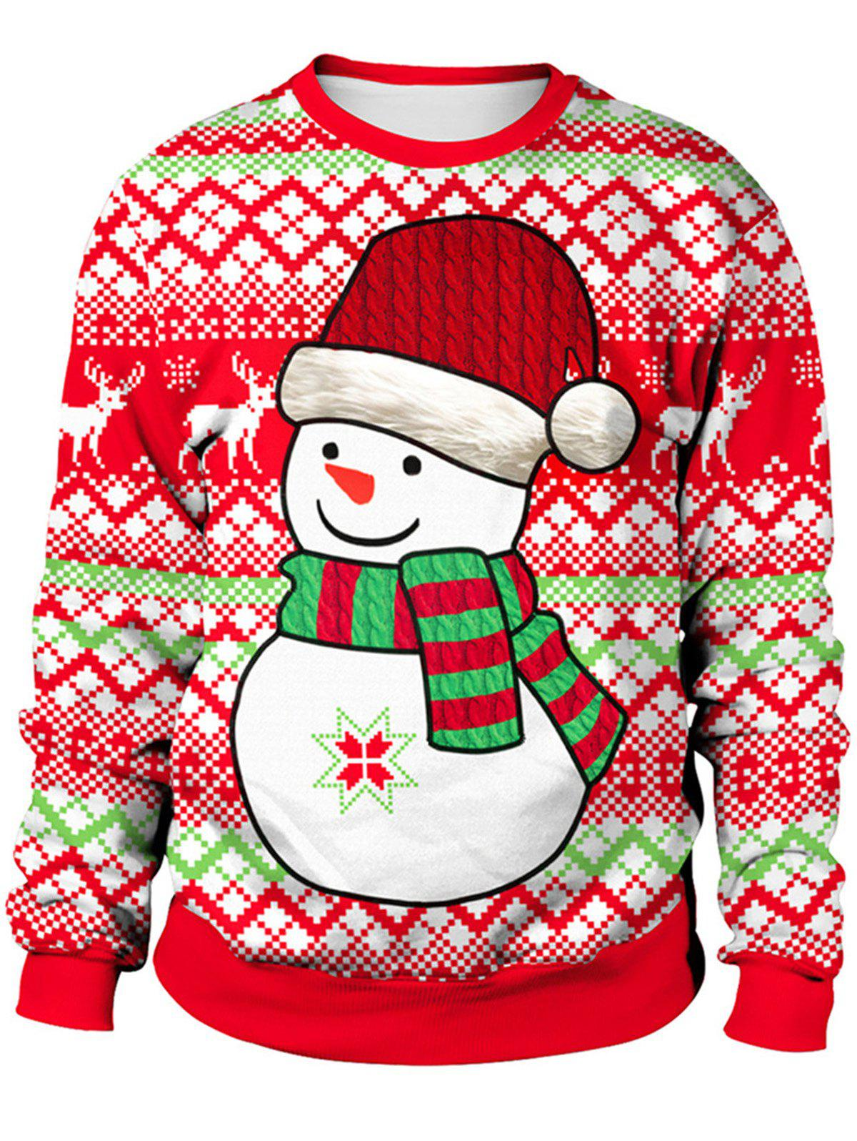 Cute Christmas Party.2018 New Style Cute Xmas Party Women Sweatshirt Long Sleeves Round Neck Christmas Hedging