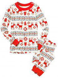 Christmas Long Sleeves Casual Flower Print Family Pajama Sets -