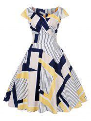 New Women's Vintage 50s 60s Printing Retro Rockabilly Pinup Housewife Party Swing Dress -