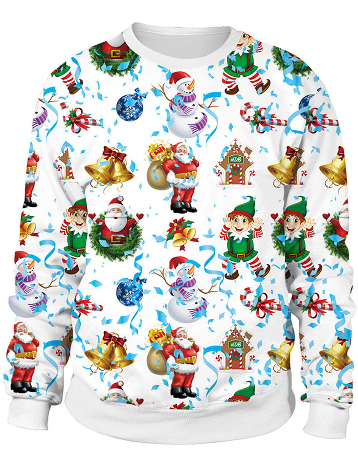 Fancy Christmas Sweater x Naughty or Nice 3D Sublimation print Crewneck  Sweatshirts For Women Men d6294df9f3