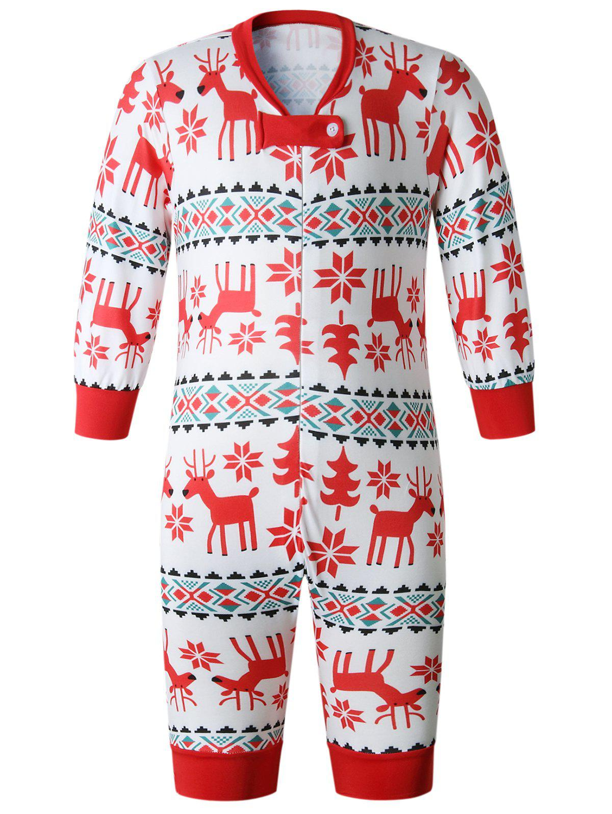 Buy Christmas Long Sleeves Casual Flower Print Family Pajama Sets