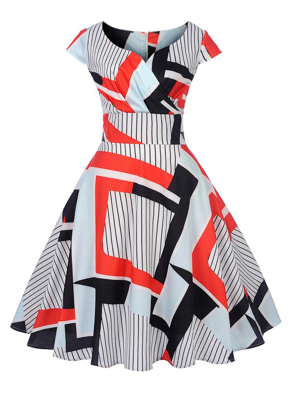 New Women's Vintage 50s 60s Printing Retro Rockabilly Pinup Housewife Party Swing Dress