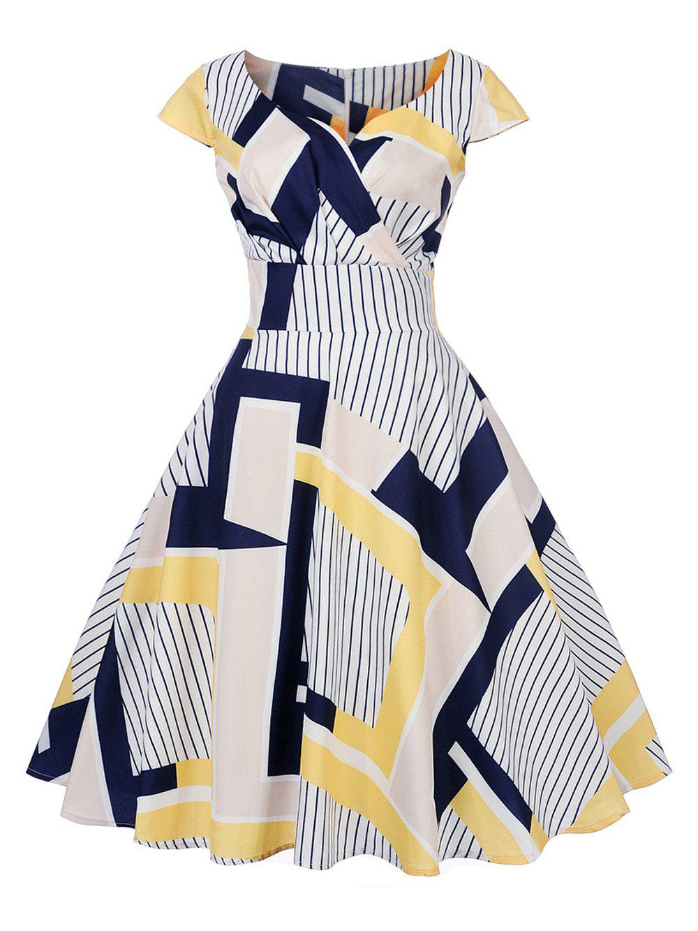 Latest New Women's Vintage 50s 60s Printing Retro Rockabilly Pinup Housewife Party Swing Dress