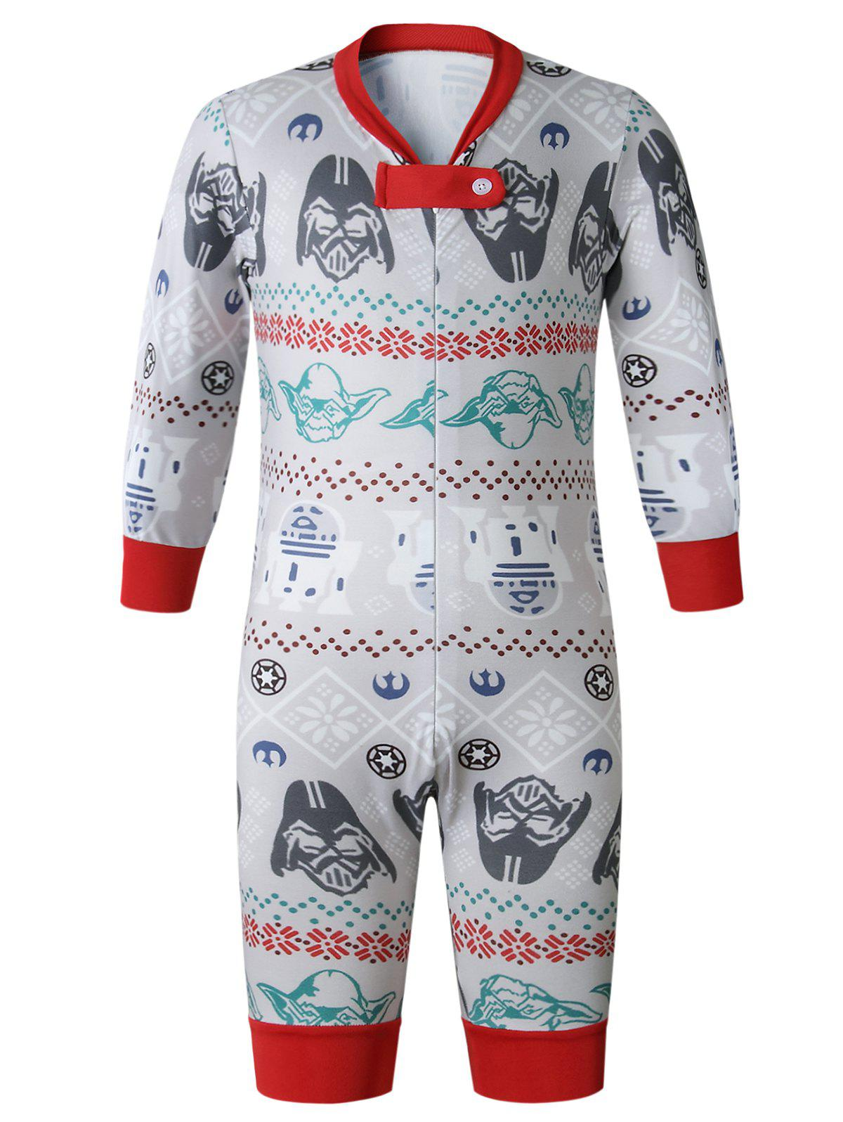 Fashion Christmas  Family Pajama Long Sleeves Casual  Print  Sets Parent-Child Home Suit Pyjamas