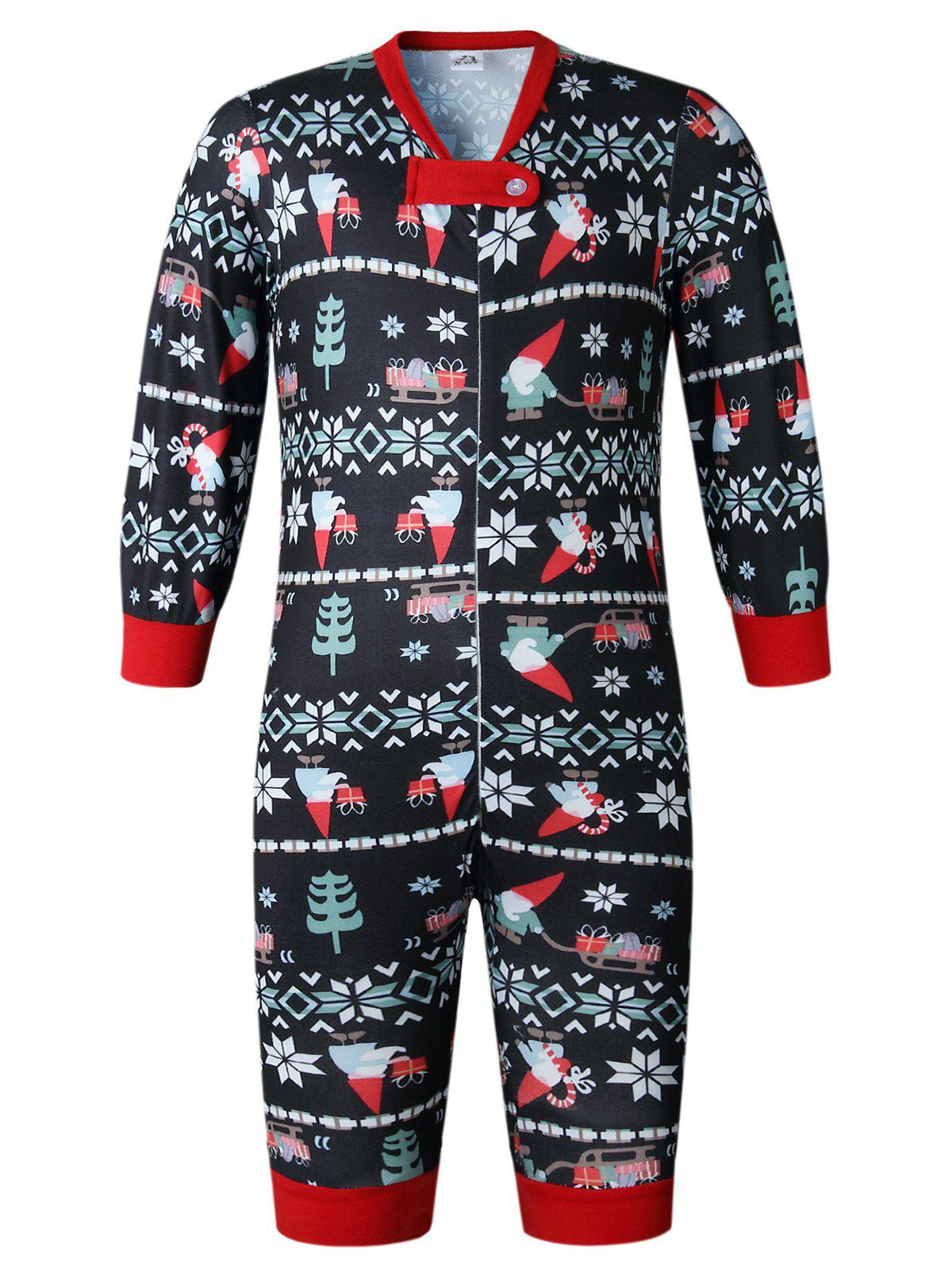 Trendy Christmas Long Sleeves Casual  Print Family Pajama Sets Parent-Child Home Suit Pyjamas
