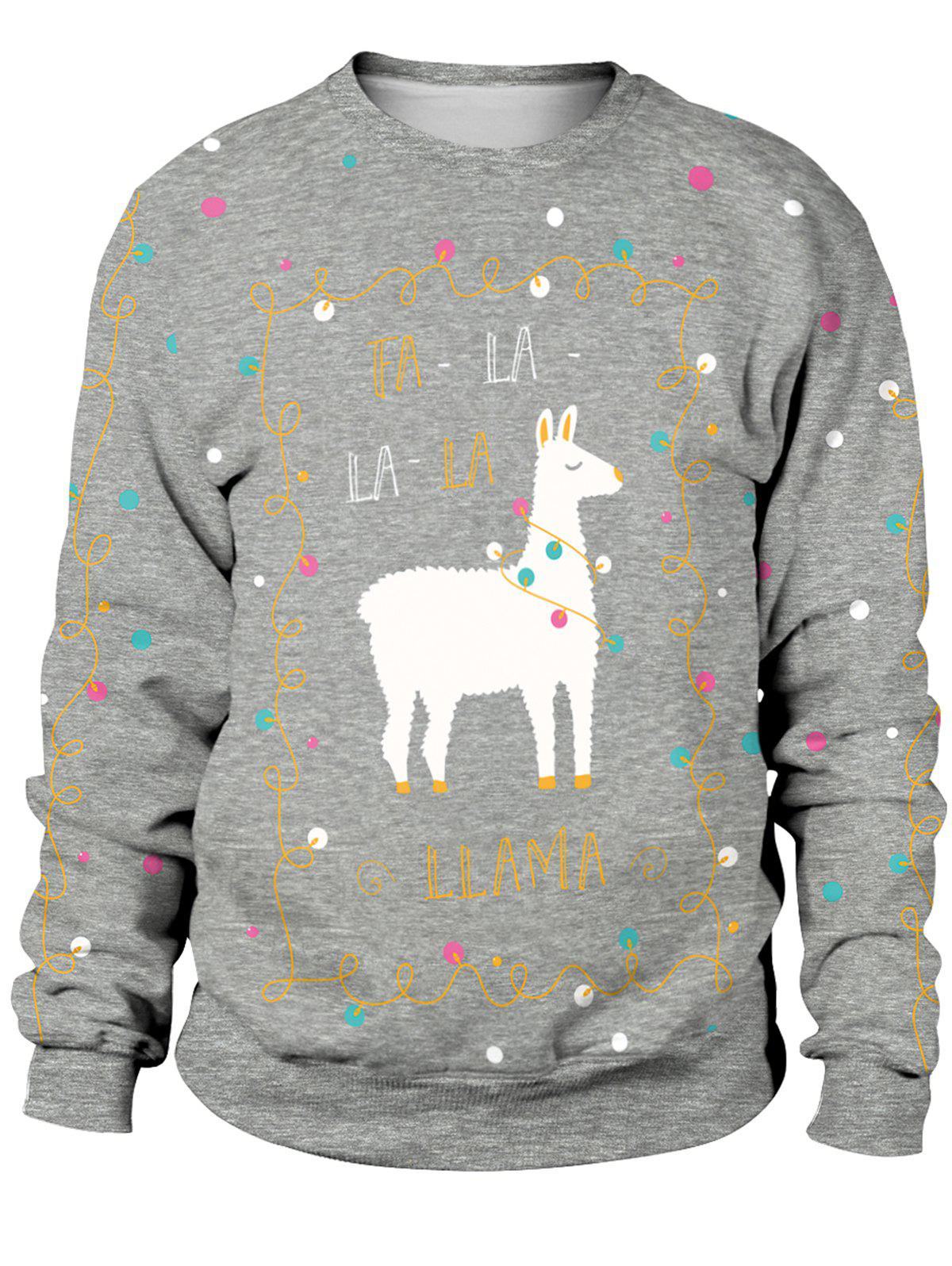 Outfits New Style Unisex Funny 3D Print Christmas Sweatshirts
