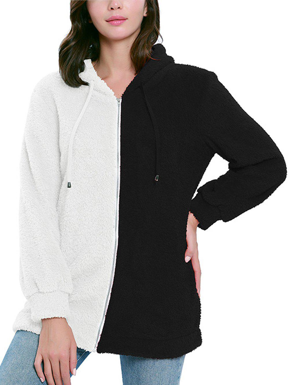 Latest Color Patchwork Long Sleeve Hoodie