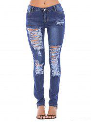 Women Juniors Distressed Slim Fit Stretchy Skinny Jeans -