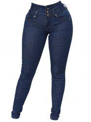 Women Amazing Butt Lift Mid-Rise Stretch Denim Skinny Jeans with Comfort Stretch -