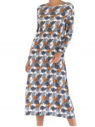 Women  Round Neck Ruffles Floral Tunic Casual Party  Dress -