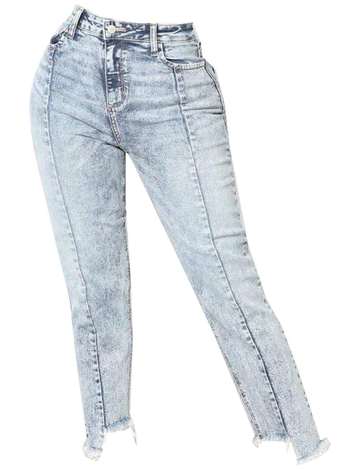 Shop Womens Fashion High Waisted Destroyed Casual Jeans Denim