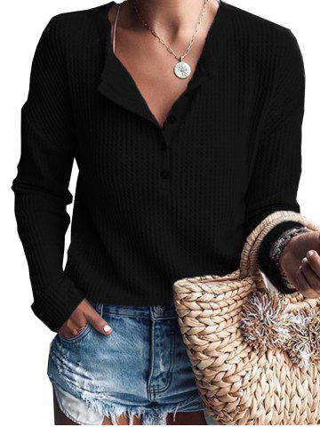 Womens Pure Color  Button Long Sleeve Jumper Casual Knitwear Tops