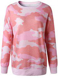 Womens Casual  Camouflage Long Sleeve Jumper Knitwear Tops T-Shirts -