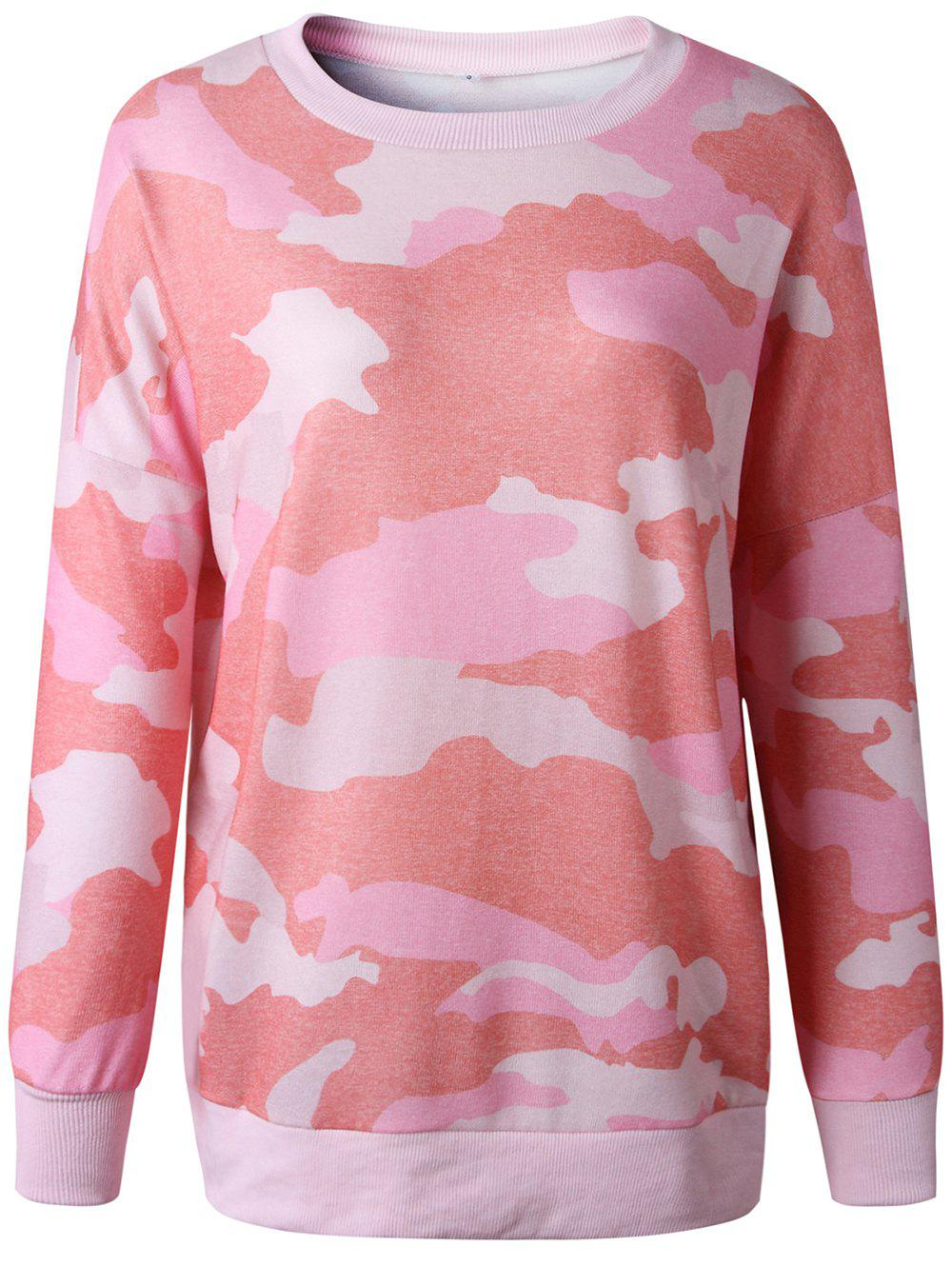 Outfits Womens Casual  Camouflage Long Sleeve Jumper Knitwear Tops T-Shirts
