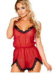 Lace Backless Babydoll Lingerie -