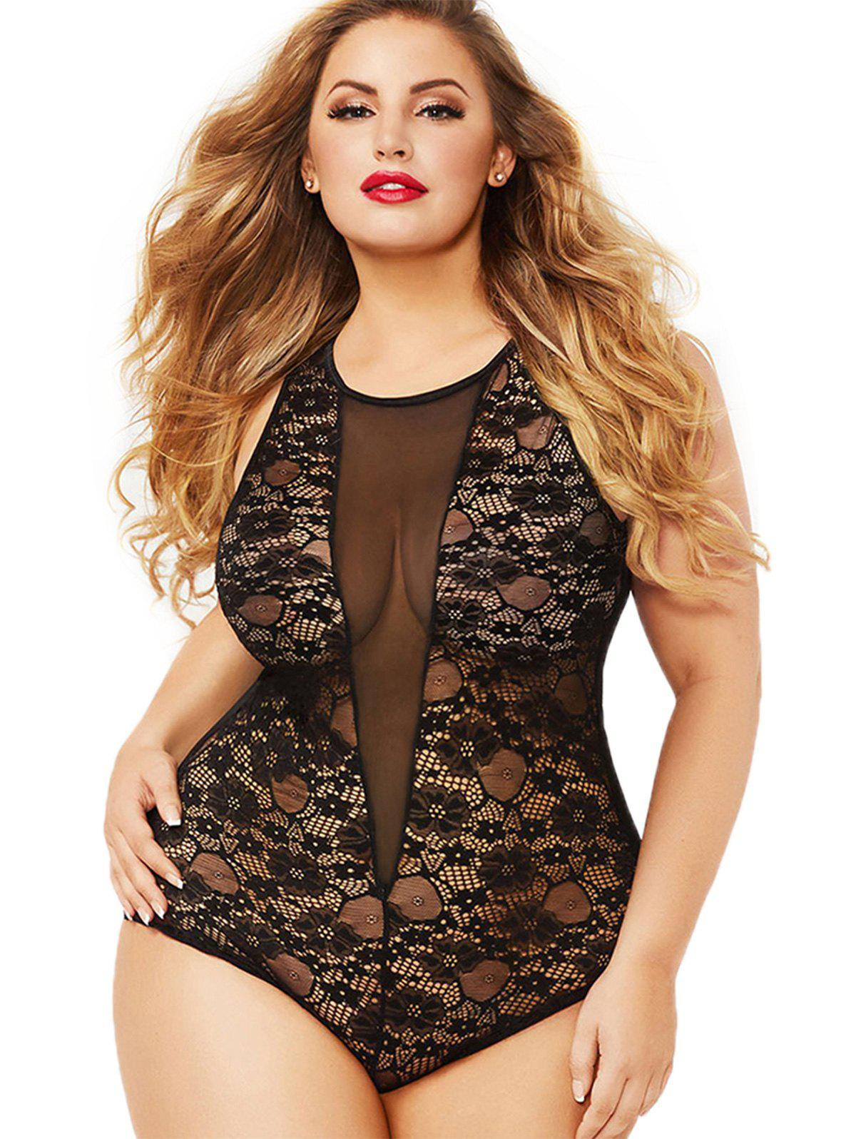 Best Plus Size Backless Babydoll Lingerie