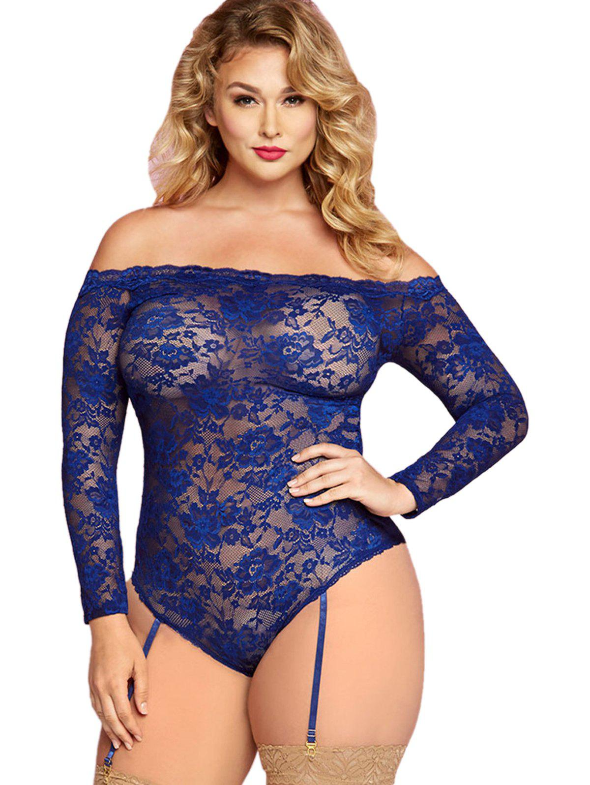 b6e4c1a79dc Outfit Plus Size Off Shoulder Lace Sexy Lingerie
