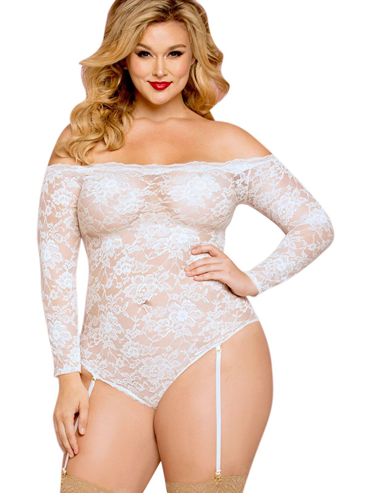 New Plus Size Off Shoulder Lace Sexy Lingerie