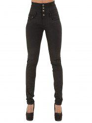 Womens Fashion High Waisted Stretch Skinny Denim Jeans -