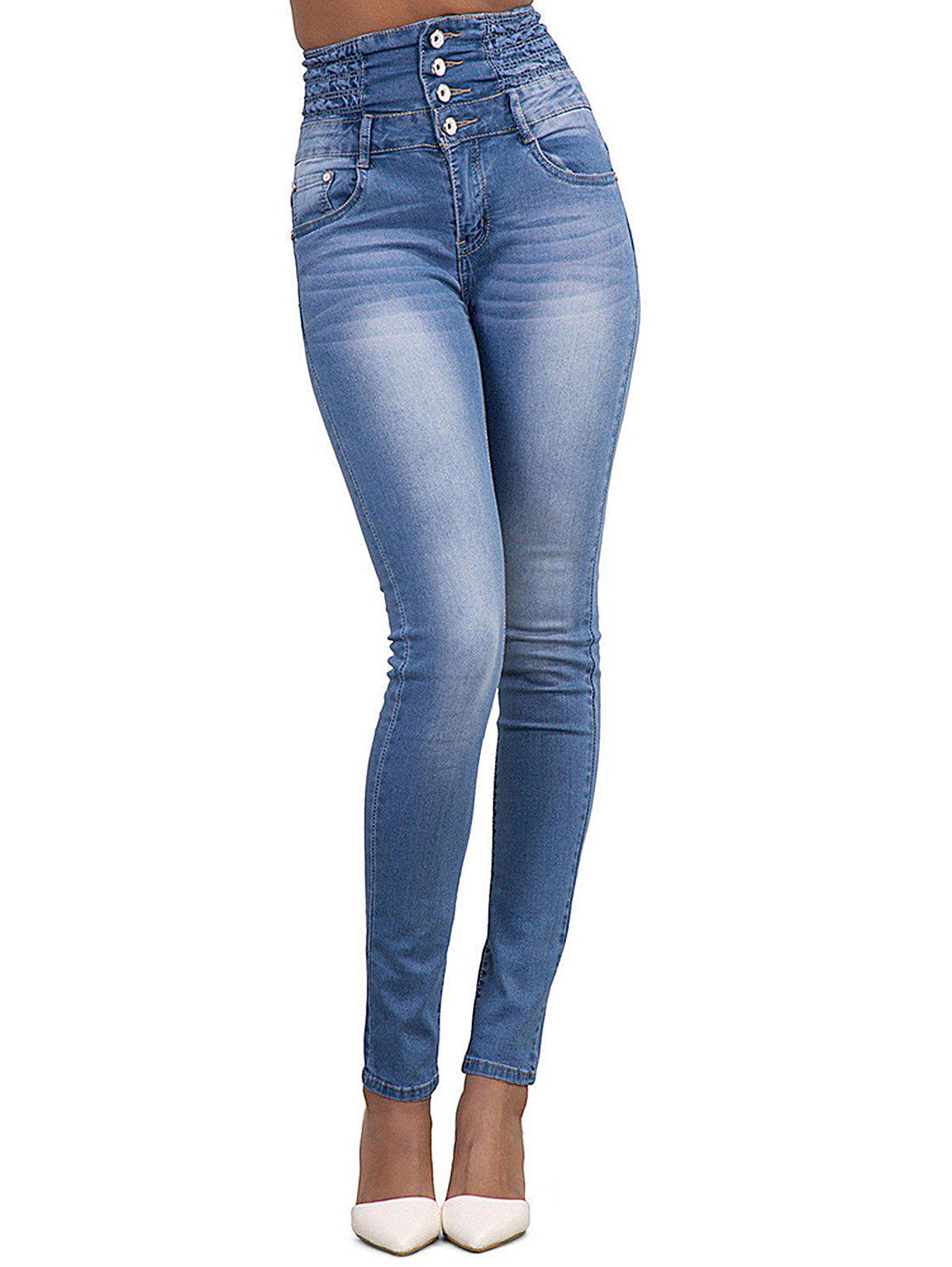 5790afb96d4f Cheap 新sku444229601Womens Fashion High Waisted Stretch Skinny Denim Jeans