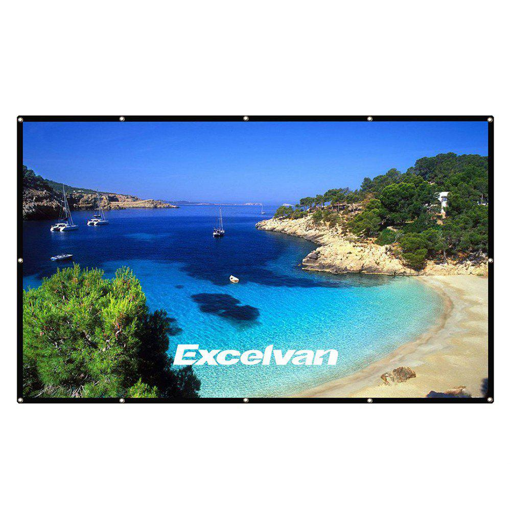Buy Excelvan 100 Inch 16:9 Collapsible White Portable Projector Cloth Screen With Hanging Hole For Home And Outdoor Use