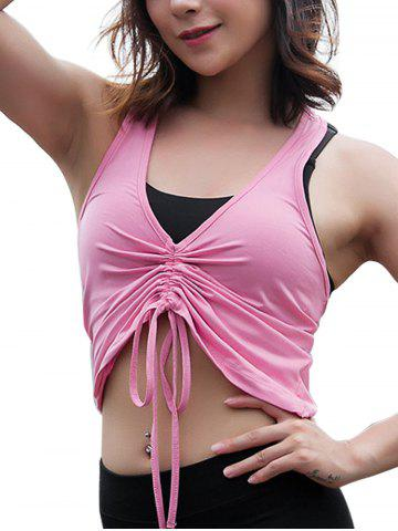 Front Middle Drawstring Quick-Drying Elastic Sports Vest