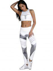 High Waist Printed Sports Leisure Yoga Pants -
