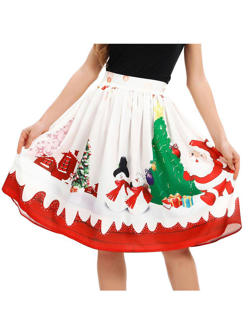 Best Women A-Line Pleated Vintage Christmas Skirts