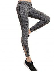 Openwork Quick-Drying Running Yoga Ninth Pants -