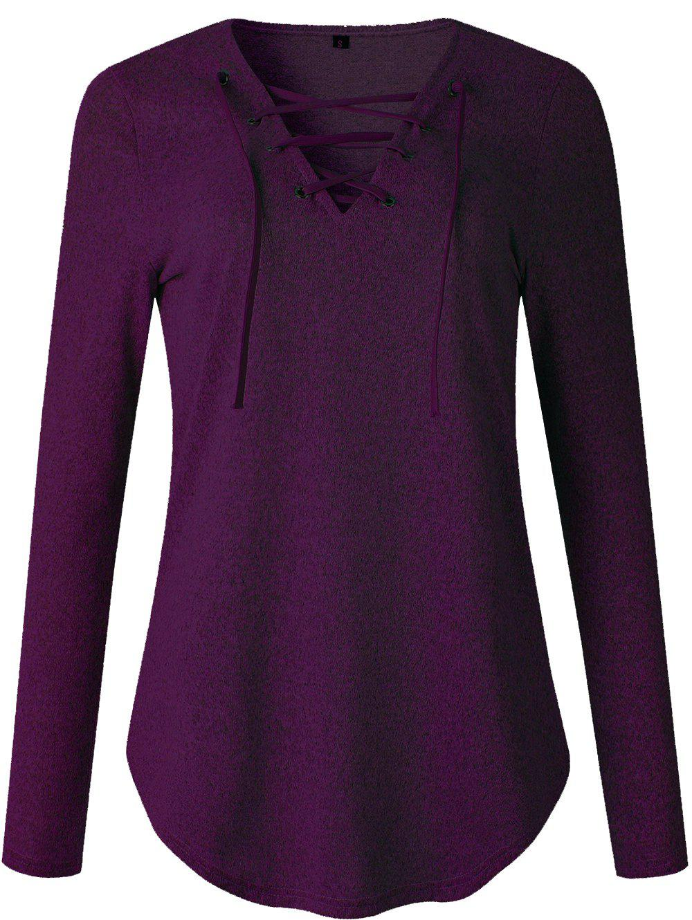 Best Womens V Neck Long Sleeve Loose Casual Knit Sweaters Pullover Tops